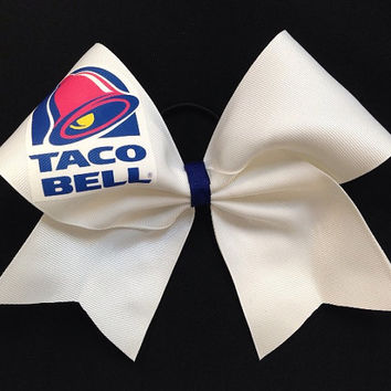 Taco Bell Cheer Bow