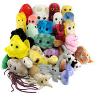 ThinkGeek :: Giant Plush Microbes