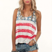 American Flag Tank | Patriot Tank | Shop Burnout tees at MessesOfDresses.com