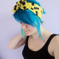 Batman Bandana Headband by GlitterpixKawaii on Etsy