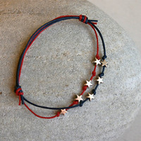 July 4th Stars Bracelet  Star Anklet