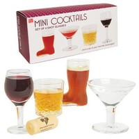Mini Cocktails -Set of 4 Shot Glasses