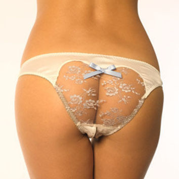 Belladonna Ivory Ouvert Brief - Coco de Mer Erotic Luxury USA
