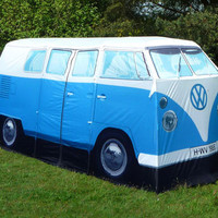 Retro To Go: Let&#x27;s go CAMPING!!! VW Camper Van Tent - an exact replica of a 1960s van