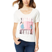 Cinderella Always Late Tee