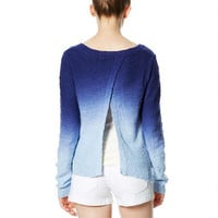 Dip-Dye Envelope Back Sweater -