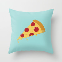 Pizza Throw Pillow by brittcorry