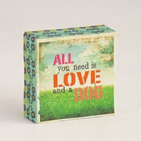 Love And A Dog Canvas Keepsake