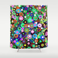 In Circles Shower Curtain by gretzky | Society6