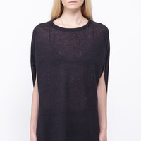 Totokaelo - Cosmic Wonder Light Source - Linen Knit Top - Blk