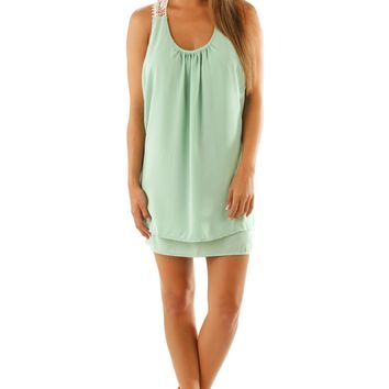 View From Here Dress: Pale Mint