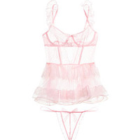 Dot Mesh & Lace Mini Slip - The Victoria's Secret Designer Collection - Victoria's Secret