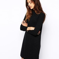 ASOS Swing Dress with High Neck in Rib
