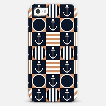 Classic Checker Nautical iPhone 5s case by Organic Saturation | Casetify