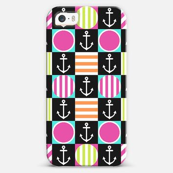Girly Checker Nautical iPhone 5s case by Organic Saturation | Casetify