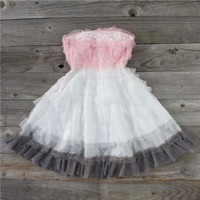 Tiers & Tulle Party Dress in Pink, Sweet Women's Country Clothing