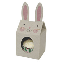Funny Bunny Cupcake Box Set Of Four