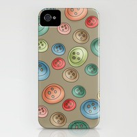 Polka Buttons iPhone Case by Carina Povarchik | Society6