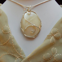 Mohter of Pearl Pendant by elainesgems on Etsy