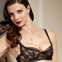 Dita Von Teese Sheer Witchery Balconette Bra Y56954 at BareNecessities.com