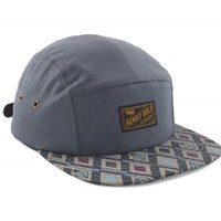 Double Ribbon Grey 5Panel Hat - Hats - Shop | Benny Gold