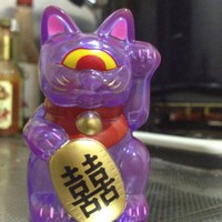 Real x Head Fortune Cat Baby - clear purple