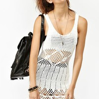 Boardwalk Crochet Dress - White in  Clothes at Nasty Gal