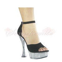 Luxurious PC Platform High Heels Sandals Black [TQL120323013] - £51.59 :