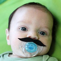 Mustache Boy Pacifier BLACK