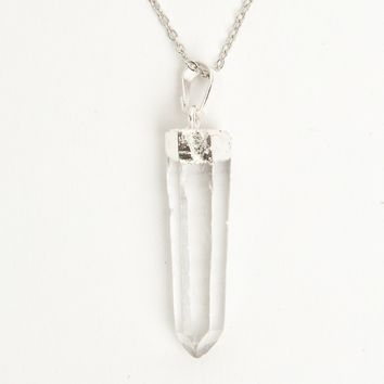 CLEAR BULLET NECKLACE