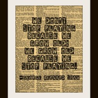 Art Print GEORGE BERNARD SHAW We don't stop by UniqueArtPendants