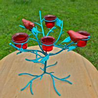 "Whimsical ""BIRDS in a TREE"" Candelabra by AquaXpressions"