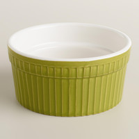 Green Ceramic Souffle Ramekins, Set of 4 - World Market