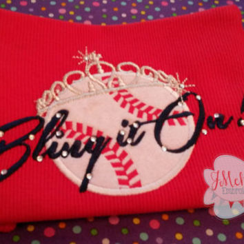 Bling it On Girly Baseball Shirt with Tiara