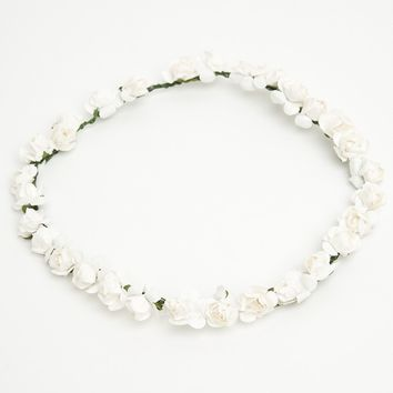 WHITE ROSES CROWN