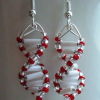 Queen of Hearts  DNA Earrings by toutdoucement on Etsy