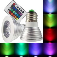 Remote Control Magic Lighting LED Light Bulb with 16 Different Colors and 5 Modes