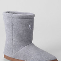 Men's Fleece Bootie Slippers from Lands' End