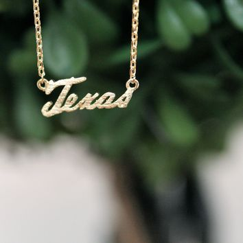 texas state necklace | gold from paper hearts