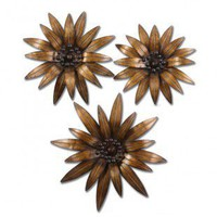 Uttermost Golden Gazanias Wall Art in Gold - Set of 3 - 13479 - All Wall Art - Wall Art & Coverings - Decor