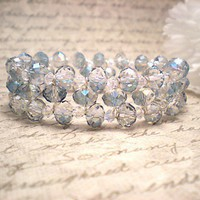 Swarovski Crystal Cuff Bangle Bracelet | NiteDreamerDesigns - Jewelry on ArtFire