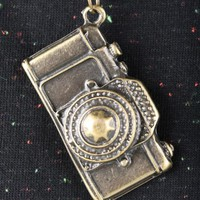 'Old Camera' Brass Necklace | Indie Clothes & Accessories