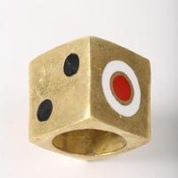 Dice Brass Ring | Indie Clothes & Accessories