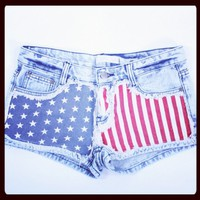 American Flag Cutoffs | Liberty Cutoffs by Gypsy Junkies | MessesOfDresses.com