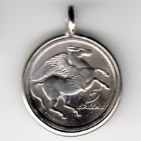 Pegasus Greece Coin Pendant (E-799)