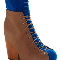 Jeffrey Campbell Co-boot Blue Heel | Mod Retro Vintage Heels | ModCloth.com