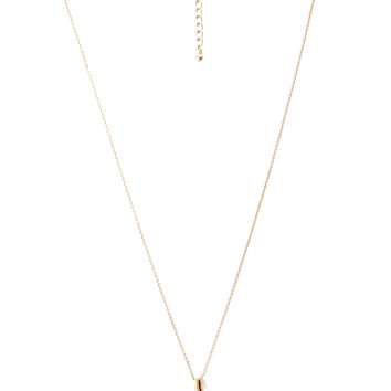 Longline Wishbone Pendant Necklace