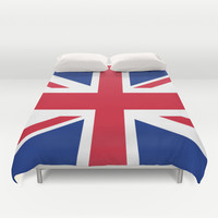 UK FLAG - The Union Jack Authentic color and 3:5 scale  Duvet Cover by LonestarDesigns2020 - Flags Designs +
