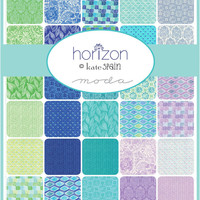 Horizon Layer Cake by Kate Spain for Moda Fabrics, 10-inch squares