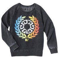 Junior's Rebel Yell Wreath Graphic Sweatshirt